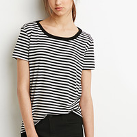 Cutout Back Striped Tee