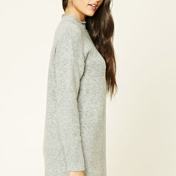 Longline Marled Knit Sweater