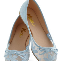 ModCloth Pastel Gossamer Girls Flat in Sky Blue