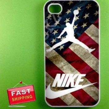 MDIGUG7 vintage us flag nike air jordan for iphone4/5, ipod 4/5, samsung galaxy s3,s4 and sams