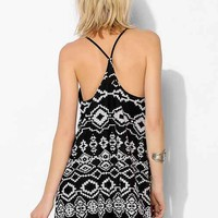 Staring At Stars Mesh Racerback Tank Dress- Black Multi M