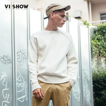 VIISHOW Sweater Men Pullover Brand Clothing Quality Men White Sweater Autumn Spring Dress Pull Homme Christmas Sweater ZC1753173