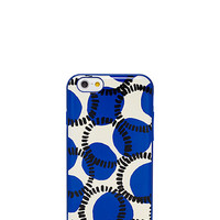 Kate Spade Block Stamped Dots Resin Iphone 6 Case Lapis Blue ONE