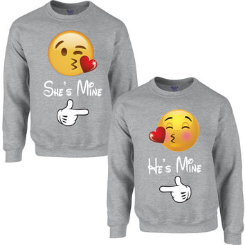 emoji love heart COUPLE SWEATSHIRT