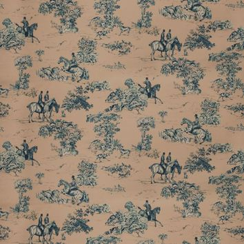 Vervain Fabric 5845204 Elway Hall Toile Bd Blueberry