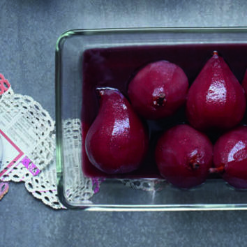 Poached pears in mulled wine recipe