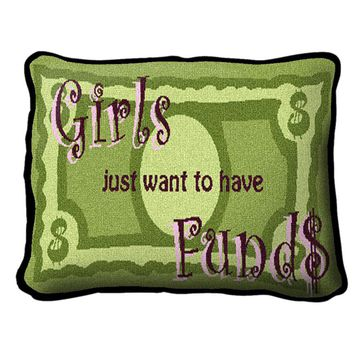 Pure Country Weavers Decorative Girls Funds Pillow