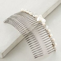 Pearlescent Hair Comb by Colette Malouf White One Size Hair
