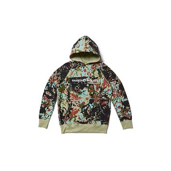 Raised By Wolves Cargo Hooded Sweatshirt - Speckle Peace Camo