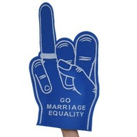 Marriage Equality Foam Hand : Revel & Riot LGBTQ merchandise and gay rights graphic t-shirts   Revel & Riot