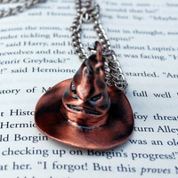 Harry Potter Sorting Hat Necklace by hannahisawful on Etsy
