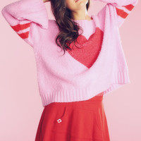 Wildfox Couture Brave Heart Chunky Oversized Sweater in Dream House