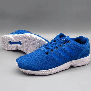 ADIDAS ZX Flux Women Men Running Sport Casual Shoes Sneakers Blue G-A36H-MY