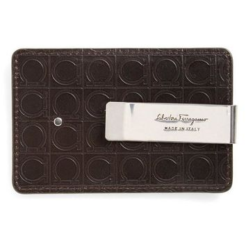 Money Clip Leather Wallet by Ferragamo