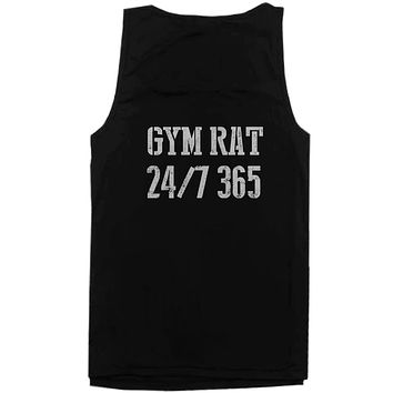 Gym Rat 24/7 365 Back Print Men's Workout Tank Top Sleeveless Sports Tanks