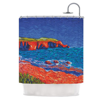 "Jeff Ferst ""Sea Shore"" Coastal Painting Shower Curtain"
