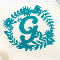 Monogram Vinyl Decal - Vinyl - Decals - Vinyl Decals - Personal Decal - Laptop Decal - Yeti Decal