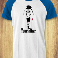 Darth Vader Star Wars Your Father Baseball Raglan Tee - zLi Unisex Tees For Man And Woman / T-Shirts / Custom T-Shirts / Tee / T-Shirt