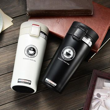 Hot Quality Double Wall Stainless Steel Vacuum Flasks 380ml Car Thermo Cup Coffee Tea Travel Mug Thermol Bottle Thermos termos