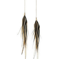 Jeeyun Ha Designs | Ganiji 14-karat gold feather earrings | NET-A-PORTER.COM