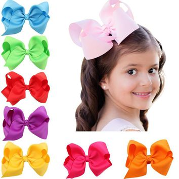 One piece ribbon hair clips