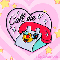 Call Me ♥ Enamel Pin from SUGARBONES