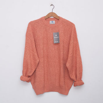 oversized sweater 90s NOS vintage coral oversized sweater
