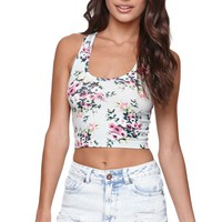 Nollie Cropped Racerback Tank - Womens Tee -