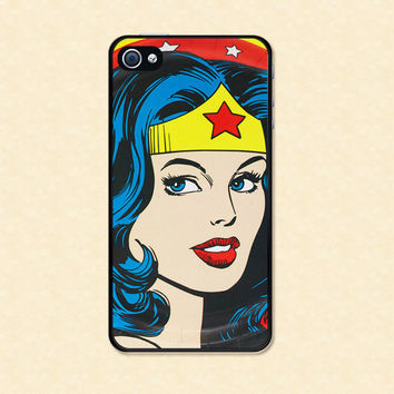 Wonder Woman Iphone case Iphone 4 case cool awesome Iphone 4s case cute iphone case