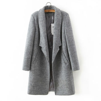 Winter Jacket Long Coat Woolen