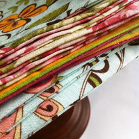Lunchbox Napkins in Assorted Fabrics--Set of 10