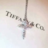 Tiffany & Co. New Necklace with Diamond Cross
