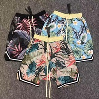 Fear Of God Shorts Men Women 2017 New Floral The 1987 Collection FOG fearofgod Beach Mesh Shorts Summer Style Fear Of God Shorts