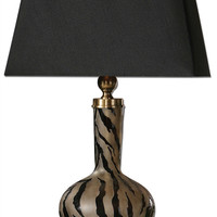 Amur Modern Smoked Glass Lamp