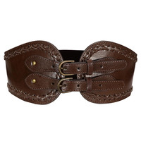 Waist Belt with Braided Trim