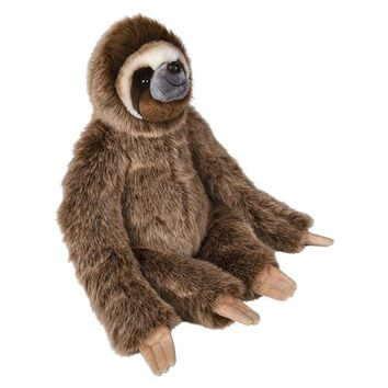 15 Inch Stuffed Sloth Plush Floppy Animal Kingdom Collection