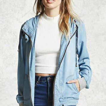 Contemporary Chambray Jacket