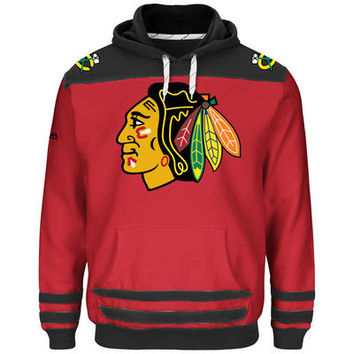 Chicago Blackhawks Majestic Double Minor Pullover Hoodie - Red