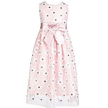 Jayne Copeland 7-12 Daisy-Print Dress - Pink/Multi