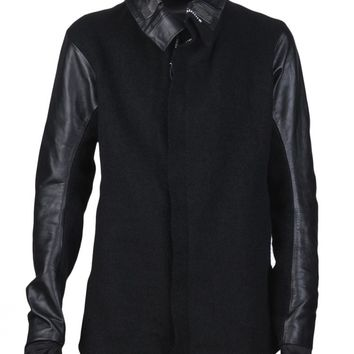 BORIS BIDJAN SABERI - Wool Leather Contrast Jacket - J1 F1011+F244 C4 - H. Lorenzo