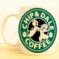 Chip and Dale Coffee Mug |  Mickey and Friends Starbucks |  Disney