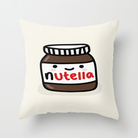 Nutella Throw Pillow by Iotara