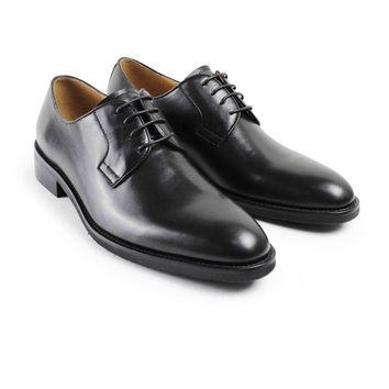 latest black custom made mens derby shoes awesome fashion formal wedding