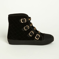 STUDDED BUCKLE SNEAKERS