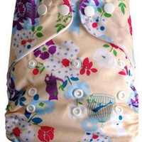 Multicolor Reusable Adjustable AIO One Size Baby Cloth Diaper