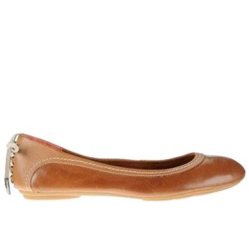 Hush Puppies Chaste Skimmer- Lace-Up Tan Ballet Flat