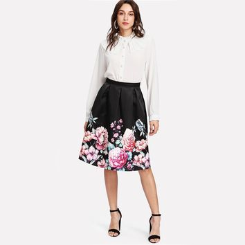 Floral A Line Skirts