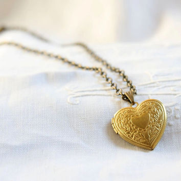 Heart locket. Boho jewelry. Locket pendant. Bride jewelry