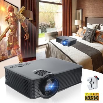 3000 Lumens Projector Black Mini Projector HDMI Digital Home Theater