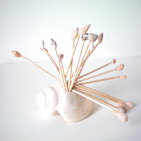 sea shell toothpicks cocktail sticks appetizer by KimberlyAnnMarie